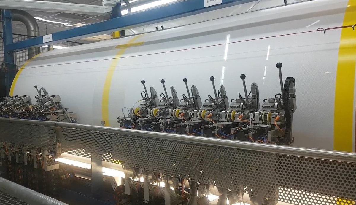 Maquinaria líneas vidrio automóvil_Tambor hilo PVB ECOL
